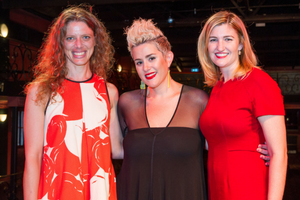 Songs That Made Me official launch - l-r: Kristin Berardi, Katie Noonan and Minister for Women Shannon Fentiman