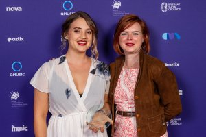 Greta Stanley and Lauren Thorpe, Qld Music Awards 2018 - courtesy of Photography 77