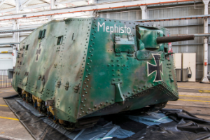 'Mephisto' World War One German tank - photo courtesy of Queensland Museum