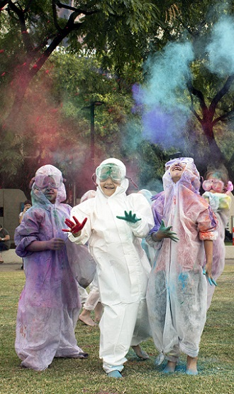 Holi Throw. Image courtesy Out of the Box QPAC