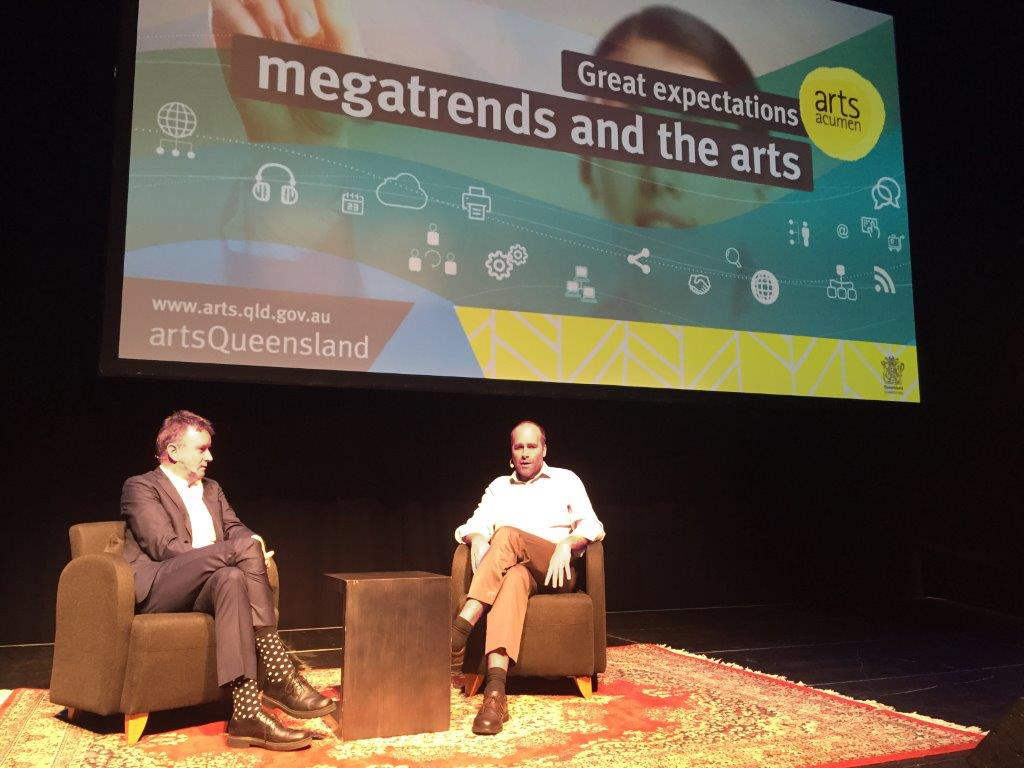 Paul Barclay and Dr Stefan Hajkowicz discuss megatrends and their impact on the arts